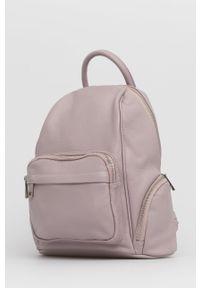 Answear Lab - Plecak skórzany. Kolor: różowy. Materiał: skóra. Styl: wakacyjny