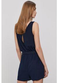 Vero Moda - Kombinezon. Okazja: na co dzień. Kolor: niebieski. Materiał: tkanina. Długość rękawa: na ramiączkach. Styl: casual