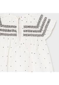 Mayoral Sukienka codzienna 1826 Biały Regular Fit. Okazja: na co dzień. Kolor: biały. Typ sukienki: proste. Styl: casual