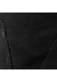 Czarne kozaki Eva Minge z cholewką przed kolano, z cholewką, na obcasie