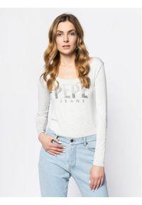 Pepe Jeans Bluzka Calissa PL504337 Szary Slim Fit. Kolor: szary