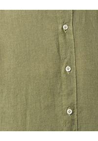 FAY - Zielona koszula z lnu. Kolor: zielony. Materiał: len. Długość rękawa: długi rękaw. Długość: długie. Wzór: aplikacja. Styl: wakacyjny #5