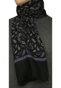 Niebieski szalik V. Fraas paisley, elegancki