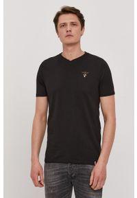 Aeronautica Militare - T-shirt. Okazja: na co dzień. Kolor: czarny. Materiał: dzianina. Wzór: gładki. Styl: casual