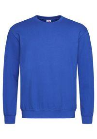 Niebieski sweter Stedman klasyczny, z nadrukiem, bez kaptura