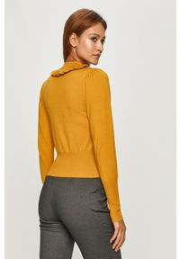Żółty sweter Silvian Heach z długim rękawem, długi