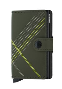 Secrid - Portfel skórzany. Kolor: zielony. Materiał: skóra