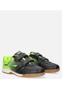 Casu - czarne buty sportowe halówki na rzepy casu b1601b-2. Zapięcie: rzepy. Kolor: czarny