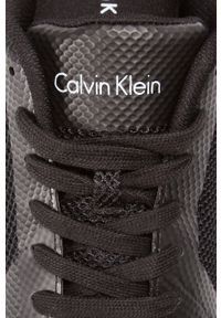 Czarne sneakersy Calvin Klein Jeans z cholewką, z okrągłym noskiem