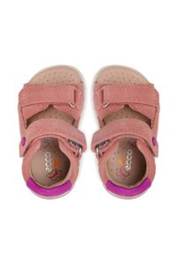 ecco - Sandały ECCO - Mini Stride Sandal 76110105477 Damask Rose. Kolor: różowy. Materiał: skóra, zamsz