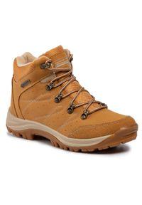 Brązowe buty trekkingowe Sprandi trekkingowe, z cholewką