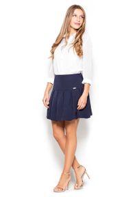 Niebieska spódnica Katrus elegancka