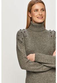 Szary sweter TALLY WEIJL casualowy, na co dzień, z aplikacjami