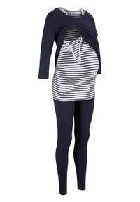 Niebieski kombinezon bonprix moda ciążowa
