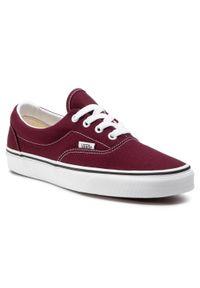 Czerwone buty sportowe Vans Vans Era, z cholewką