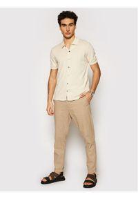 Imperial Spodnie materiałowe PWB0BQI Brązowy Regular Fit. Kolor: brązowy. Materiał: materiał