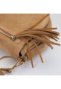 Wittchen - Damska listonoszka saddle bag z zamszu. Wzór: haft. Dodatki: z haftem. Materiał: zamszowe, skórzane. Styl: elegancki #3