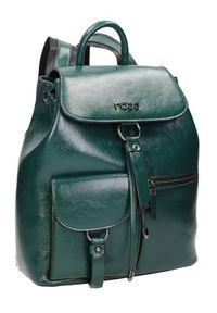 Plecak damski zielony Nobo NBAG-K2450-C008. Kolor: zielony. Materiał: skóra ekologiczna. Styl: elegancki