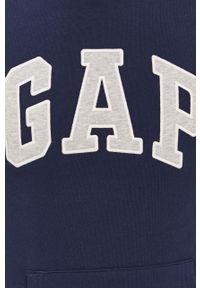 Niebieska bluza nierozpinana GAP z kapturem, casualowa