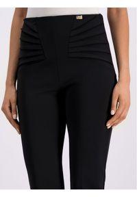 Czarne spodnie materiałowe Cavalli Class