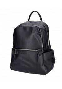 DAVID JONES - Plecak damski czarny David Jones CM6088 BLACK. Kolor: czarny. Materiał: skóra ekologiczna