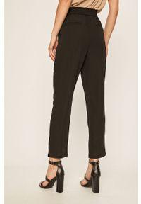 Czarne spodnie materiałowe Vila casualowe, na co dzień