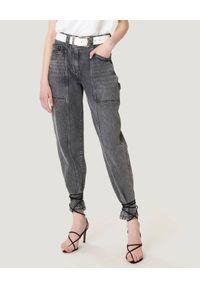 IRO - Szare jeansy Challain. Stan: podwyższony. Kolor: szary. Styl: vintage