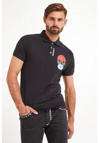 Just Cavalli - POLO JUST CAVALLI. Typ kołnierza: polo. Materiał: bawełna. Wzór: jednolity, nadruk, aplikacja, kolorowy. Styl: sportowy