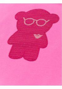 Różowa sukienka Emporio Armani na co dzień, prosta