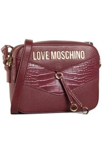 Love Moschino - Torebka LOVE MOSCHINO - JC4288PP0BKP150A Vino. Kolor: czerwony. Wzór: aplikacja. Materiał: skórzane