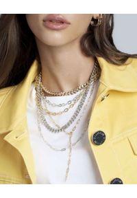 SELFIE JEWELLERY - Srebrny naszyjnik z łańcuchem Kim Silver. Materiał: srebrne. Kolor: srebrny