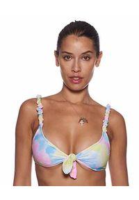 REINA OLGA - Bikini z wzorem tie-dye Luca. Kolor: niebieski. Materiał: materiał