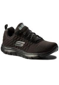 Czarne buty do fitnessu skechers na co dzień, z cholewką