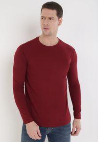 Born2be - Bordowa Bluzka Ideld. Kolor: czerwony. Materiał: dzianina. Długość rękawa: długi rękaw. Wzór: jednolity. Styl: klasyczny