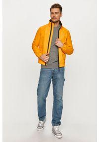 Pomarańczowa kurtka Tommy Jeans na co dzień, gładkie, casualowa, bez kaptura
