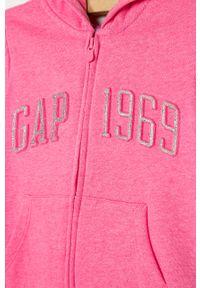 Różowa bluza rozpinana GAP casualowa, z aplikacjami, na co dzień