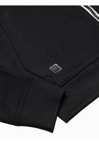 Ombre Clothing - Bluza męska rozpinana z kapturem B1152 - czarna - XXL. Typ kołnierza: kaptur. Kolor: czarny. Materiał: bawełna, poliester