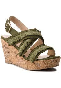 Zielone sandały Brenda Zaro na co dzień, casualowe, z aplikacjami