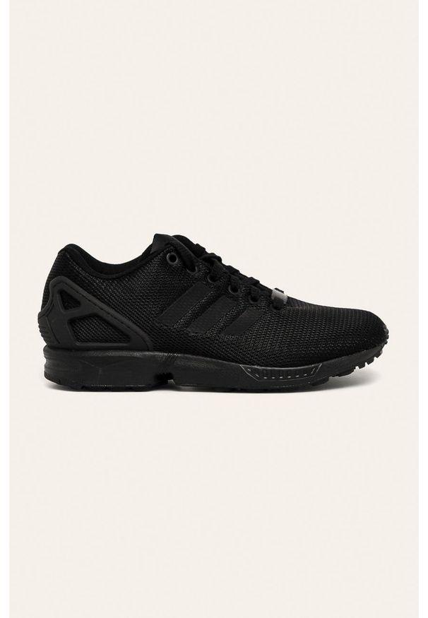 Czarne buty sportowe adidas Originals na sznurówki, z cholewką, na średnim obcasie, na obcasie