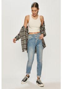 Niebieskie proste jeansy Vero Moda z podwyższonym stanem