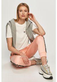 Różowe spodnie dresowe Fila z aplikacjami