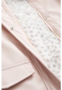 Różowy płaszcz Mango Kids z kapturem