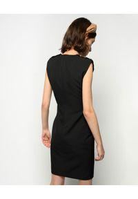Czarna sukienka mini Pinko dopasowana