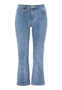 Cellbes Krótkie, rozszerzane dżinsy błękitny denim female niebieski 36. Kolor: niebieski. Materiał: denim. Długość: krótkie. Styl: klasyczny