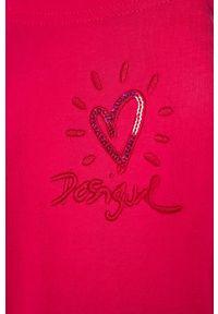 Różowe legginsy Desigual z nadrukiem