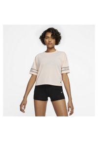 Koszulka damska Nike Pro Dri-FIT CJ4031. Materiał: poliester, materiał. Długość rękawa: krótki rękaw. Technologia: Dri-Fit (Nike). Długość: krótkie. Sport: fitness