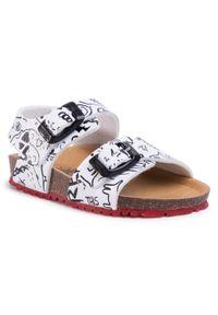 Białe sandały Garvalin klasyczne, na lato