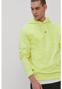 Tommy Jeans - Bluza. Okazja: na co dzień. Kolor: zielony. Materiał: bawełna, dzianina. Wzór: nadruk. Styl: casual