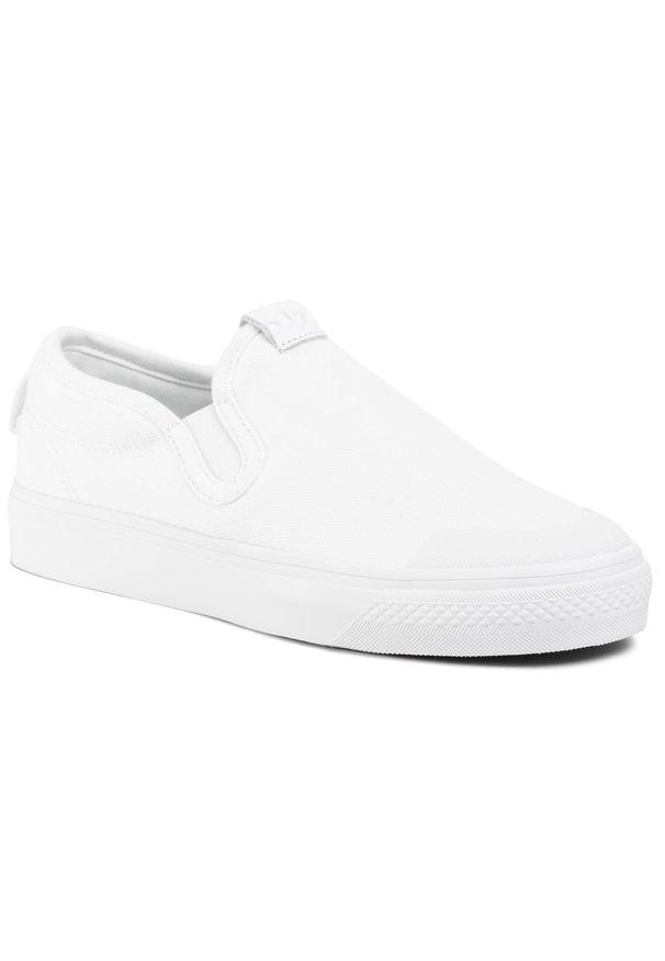 Białe trampki Adidas z cholewką