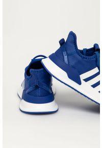 Niebieskie buty sportowe adidas Originals na sznurówki, z okrągłym noskiem, do biegania